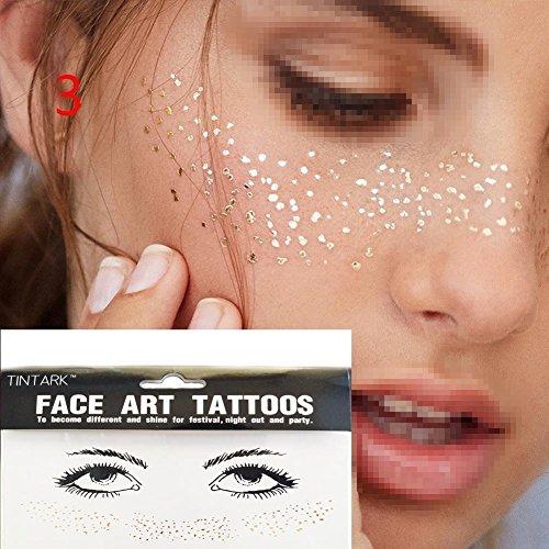 DFLY 1 STÜCK Bunte Temporäre Persönlichkeit Tattoo Transfer Spot Wasser Aufkleber Aufkleber Sommersprossen Bronzing Gesicht Paste (bunt3)