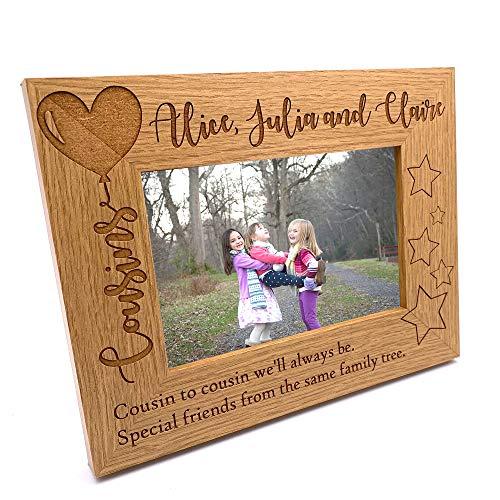 ukgiftstoreonline Personalised Cousins Photo Frame Balloon Design (4 x 6...
