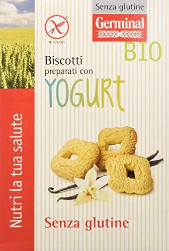 Germinal Bio Biscotti Preparati con Yogurt - 8 confezioni da 250 gr - 2000 gr, Senza glutine