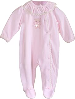 BLUES BABY Girls Pink Mock 2pc Tutina Manica Corta Neonato 100/% Cotone 1-9 Mesi