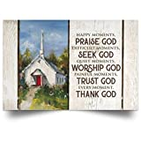 Meaningful Gifts Poster Inspiration Happy Moments Praise God Every Moments Thank GodGift Family Unisex Awesome On Birthday, Decor Home Durable 32'x48'