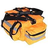 LIKJ Empty Compact Emergency Kit Orange Lightweight Small Emergency Kit Portable for Travel
