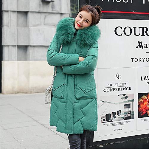 Waniii dames donsjack met grote bontkraag en dikke capuchon mantel