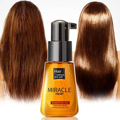 Moroccan Oil traitement pour tous les types de cheveux, Huile d'argan pure – 100% certifiée biologique. 60 ml. Pour Cheveux Peau Corps Ongles