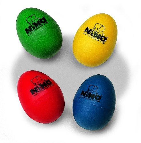 Meinl NINOSET540 - Huevo de percusión, Rojo, Azul, Verde, Amarillo