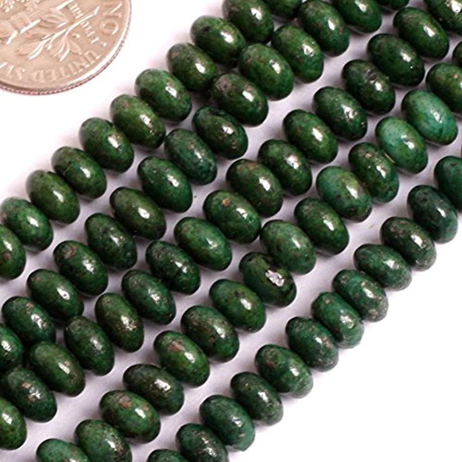 GEM-inside Pyrite Gemstone Loose Beads 4X6mm Green Dyed Color Rondelle Crystal Energy Stone Power for Jewelry Making 15
