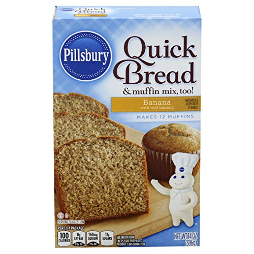 Pillsbury Banana Flavored Quick Bread & Muffin Mix, 14-Ounce (Pack of 12)