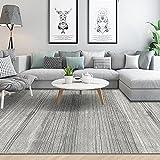 Alfombra alfombras Pasillo Deslice el diseño de la Raya Negra Gris no se desvanece la Alfombra Alfombra para habitacion chimeneas de Decoracion 140X200CM