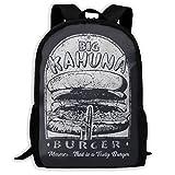 Big Kahuna Burger Funny Fast Food Parody Printed School Backpack Water Resistant Travel Rucksack Bag...