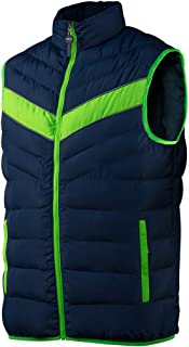 Neo Men's Work Outdoor Body Warmer Gilet Navy Blue / Neon Green
