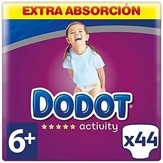 DODOT Activity pañales +14 kgs talla 6 paquete 44 uds