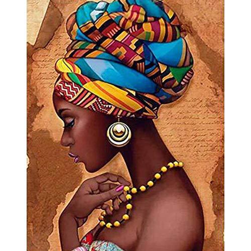 DIOPN 5D Diamond Painting boren doe-het-zelf Afrikaanse vrouwen kruissteek mozaïek kunst diamant borduurwerk muurschildering decor 40*50