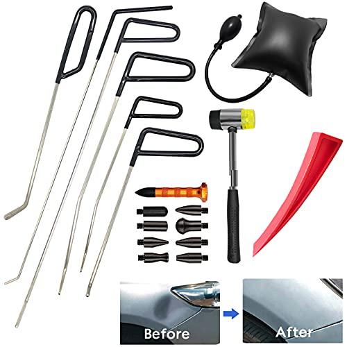 MENQANG Dent Repair Kit Herramientas,Kit de reparación de Abolladuras Sin Pintura, Kit de Reparación de Abolladuras Sin Pintura Herramientas Manuales de Reparación de Abolladuras de Puertas de Coche