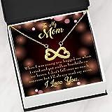 Express Your Love Gifts Mother Necklace Endless Bandaids Keepsake Card Gift Infinity - Colgante de acero inoxidable para mamá