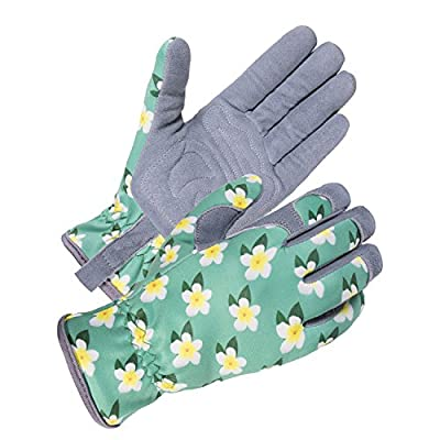 SKYDEER Womens Gardening Gloves with Deerskin Leather Suede for Yard Work and Daily Work (SD6611)