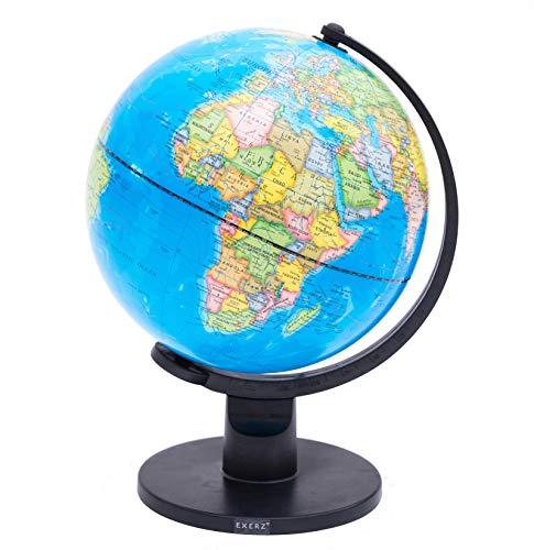 Exerz Bildung Drehbarer Globus - in Englischer Sprache (Durchmesser: 25 cm)