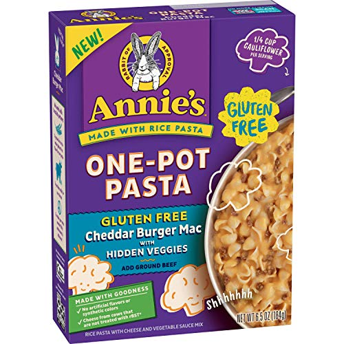 Annie's Gluten Free One Pot Pasta, Cheddar Burger Macaroni and Cheese