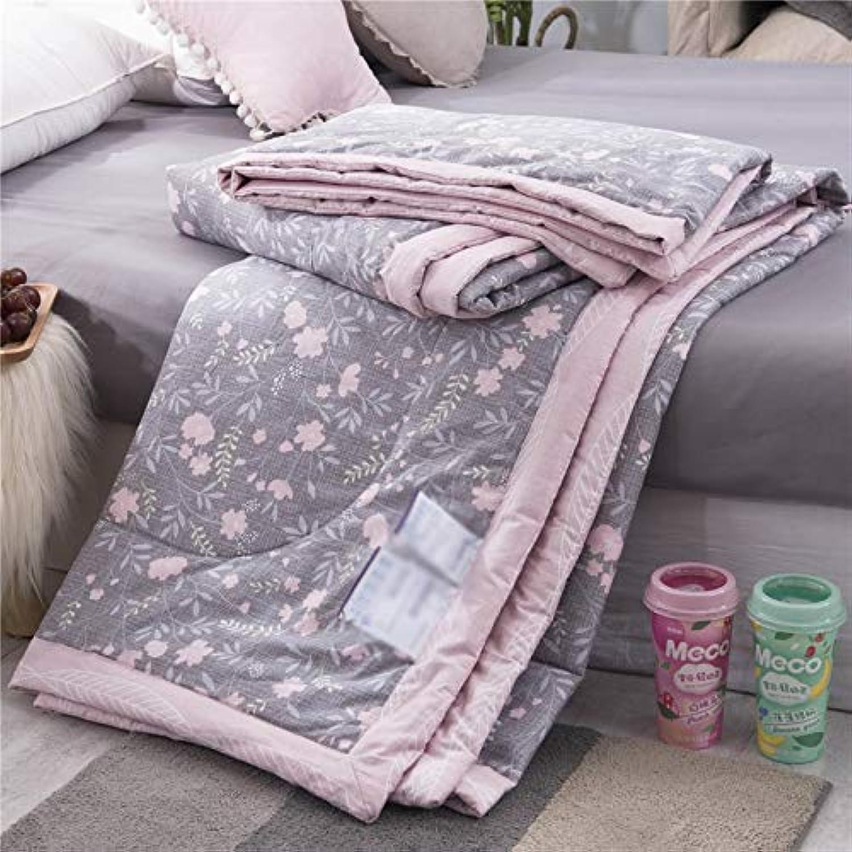 GAI Cotton été cool est climatisé avec une seule courtepointe mince d'été en coton lavable été (Couleur   E, taille   150×200cm)