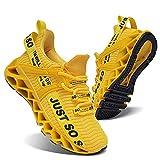 スニーカーキッズハンサム子供靴男の子女の子スポーツファッション運動靴ジョギングトレーニングランニング軽便通気性黄20.5cm