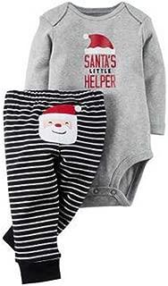 2-Piece Suit Unisex Girl Boy Infants Christmas Print Jumpsuit Long Sleeve Autumn Rompers Bodysuit
