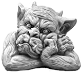 gartendekoparadies.de Massive Steinfigur Gargoyle Büste III Torwächter Gartendeko aus Steinguss frostfest