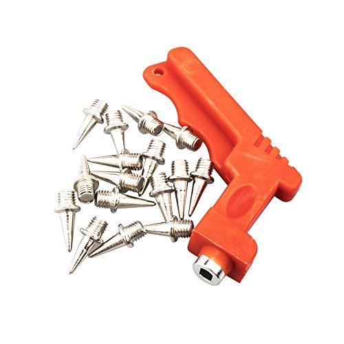 Temlum 7mm / 9mm / 12mm Edelstahlschiene und Cross Country Spikes Ersatz mit Schraubenschlüssel (16 Stück) (7)