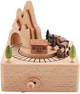 Music Box, Wooden Music Box Beautiful Wood Musical Crafts Birthday Home Decoration
