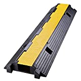 Yescom 1 Channel Cable Protector Ramp Rubber Electrical Wire Cover Cord Guard 66000 Lbs