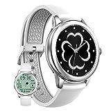 HQPCAHL Smartwatch para Android Y iOS Reloj Inteligente Bluetooth Smart Watch Mujeres IP68 Impermeable Deportes Fitness Tracker Pulsómetro Monitor De Sueño Podómetro SMS Recordatorio De Llamada,B