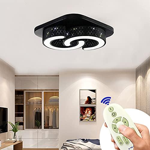 BFYLIN 64W Lámpara de techo led Regulable de sala de estar luz de cocina lámpara de techo de lámpara de techo (Negro-C-64W Regulable)