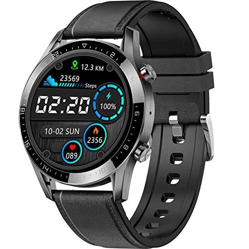 ZHENAO Moda Gt05 Smart Watch Men, Ip68 Impermeable Impermeable 1.28Ips Pantalla Redonda con Llamada Bluetooth Ecg Ppg Impermeable Presión Arterial a Prueba de Agua Rastro Del Corazón Tracker