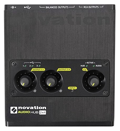 Novation Audiohub 2x4 Combined Audio Interface and USB 2.0 Hub