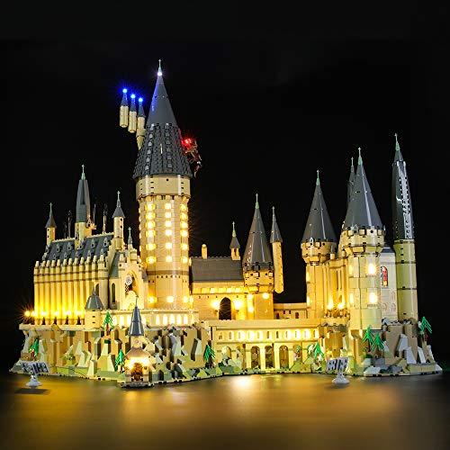 BRIKSMAX Kit di Illuminazione a LED per Lego Harry Potter Castello di Hogwarts,Compatibile con Il Modello Lego 71043 Mattoncini da Costruzioni - Non Include Il Set Lego.