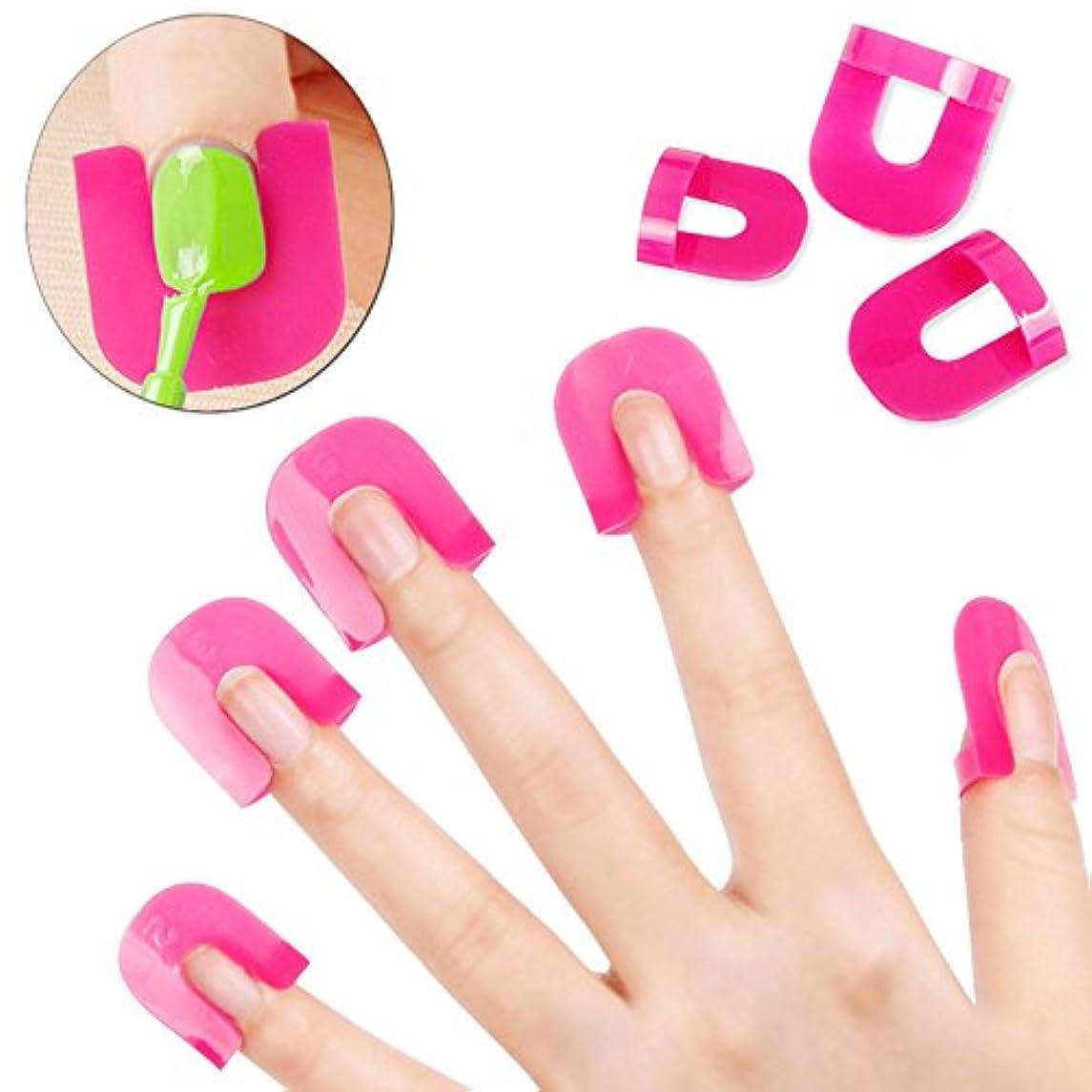 プログレッシブ参照歯痛New 26PCS Professional French Nail Art Manicure Stickers Tips Finger Cover Polish Shield Protector Plastic Case Salon Tools Set
