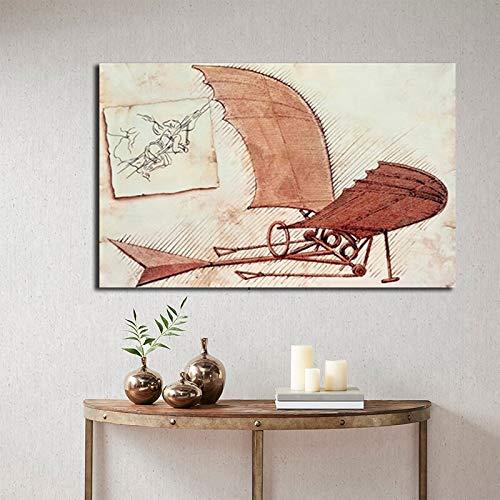 Schilder vliegtuigen poster olieverfschilderij wall art poster en prints frameloze schilderij 60X90CM