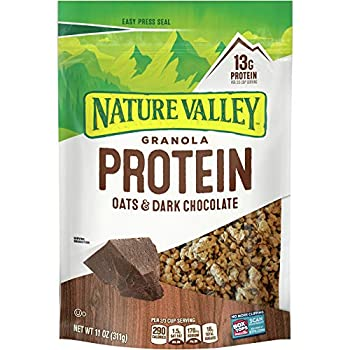 Nature Valley Protein Crunchy Granola Oats  N Dark Chocolate  Pack of 2  11 Oz.