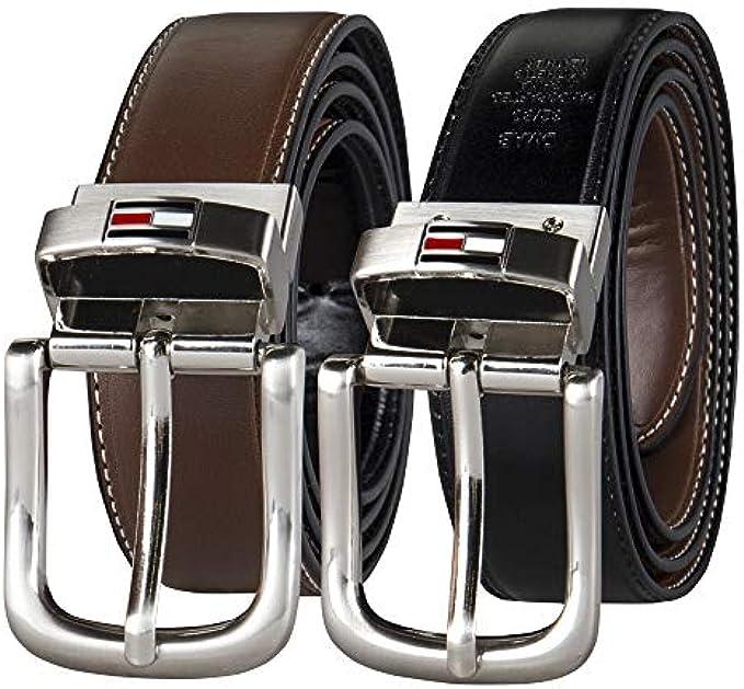 זוג חגורות דמוי עור Tommy Hilfiger Men's Reversible Belt