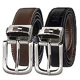 Tommy Hilfiger Men's Reversible Belt, Brown/Black...