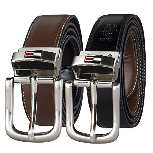 Tommy Hilfiger Men's Reversible Belt, Brown/Black Casual, 38