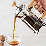 DAXINYANG Cafetera de Prensa Francesa, Prensa de té y Leche espumada, preparación de café, cafetera de café frío Caliente, cafetera de Camping, con Filtro de 3 Niveles
