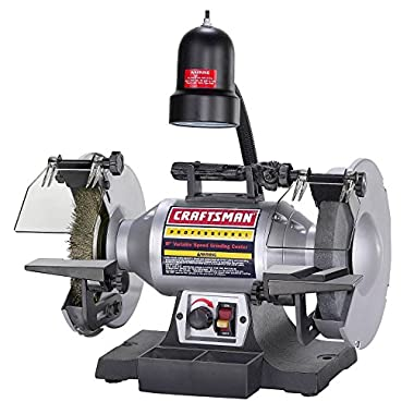 Craftsman Professional Variable Speed 8  Bench Grinder (21162)