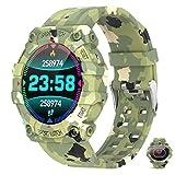 APCHY Ladies Smart Watch,1.3 Pulgadas Color Color Heart Monitores De Actividad of Tate Monitoring Ejercicio Podómetro,Reloj De Oximetría De Ritmo Cardíaco, Pulsera Deportiva,E
