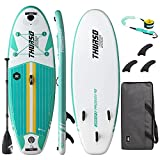 THURSO SURF Prodigy Junior Kids Inflatable SUP Stand Up Paddle Board 7'6 x 30'' x 4'' Two Layer...