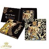 Carmani - Piatto decorativo in vetro rettangolo per merenda, cibo per feste, frutta secca,...