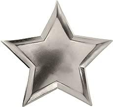Meri Meri, Silver Foil Star Plates, Birthday, Party Decorations, Dinnerware - Pack of 8