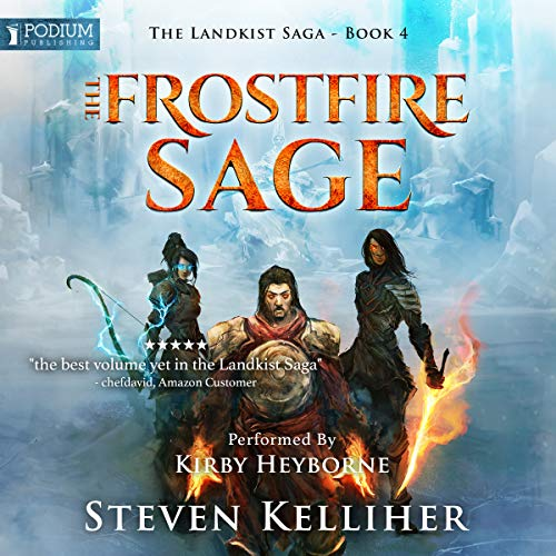 The Frostfire Sage audiobook cover art