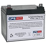 UPSBatteryCenter® Compatible Replacement 12V 35Ah Battery with Nut & Bolt Terminals for Light