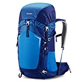 Gonex 55L Hiking Backpack Outdoor Trekking Camping Backpack Rain Cover Included Dark Blue
