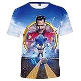 SSRSHDZW Sonic The Hedgehog 3D Manga Corta Firefox Impreso Camisetas de Manga Corta Casual Anime Cosplay Camisetas,A106,XXS