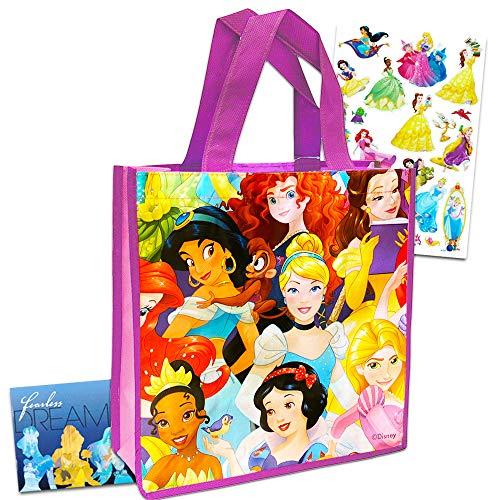 Disney Princesses Reusable Pink Tote Bag 14'x15' Grocery Size